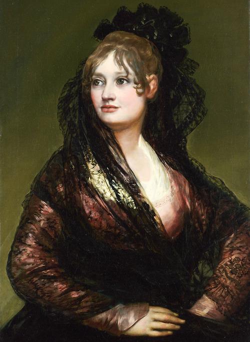 """Goya. """"Portrait of Doña Isabel de Porcel,"""" 1805. Image via Jaded Mandarin."""