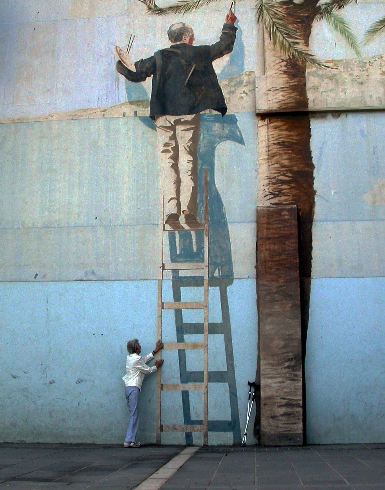 Street-Art-3D-paint-on-the-ladder25