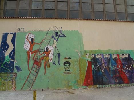 """""""Marching Women / Women Climbing Ladder"""" Alaa Awaad Cairo, 2012"""